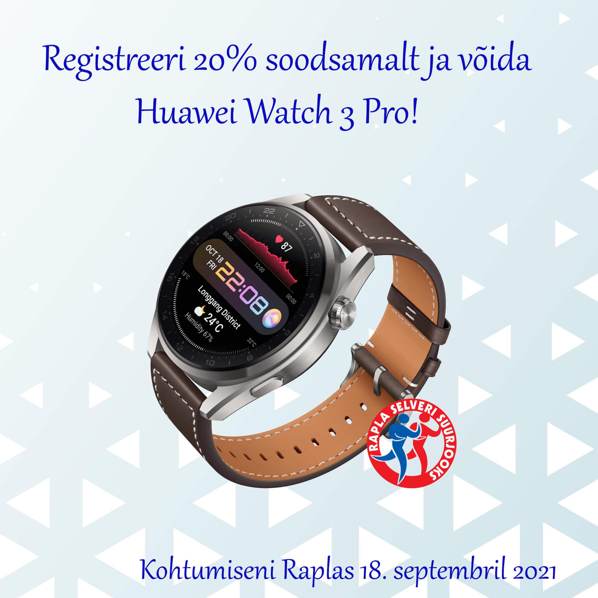 VÕIDA HUAWEI WATCH 3 PRO NUTIKELL!